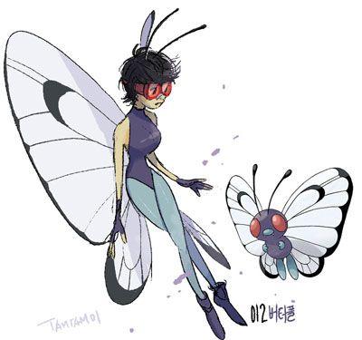 Butterfree en versión humana
