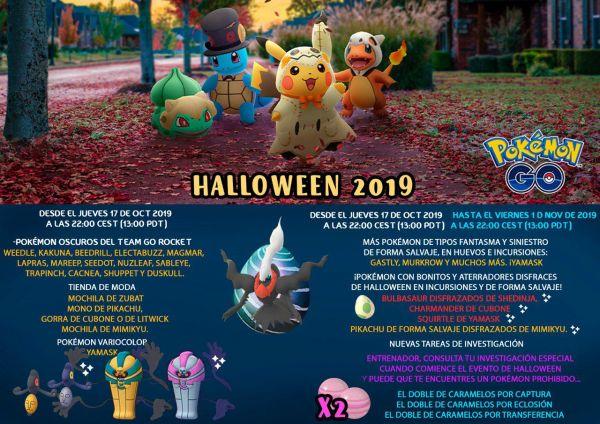 Resumen sobre el evento Halloween 2019 en Pokemon Go con todas sus terroríficas sorpresas