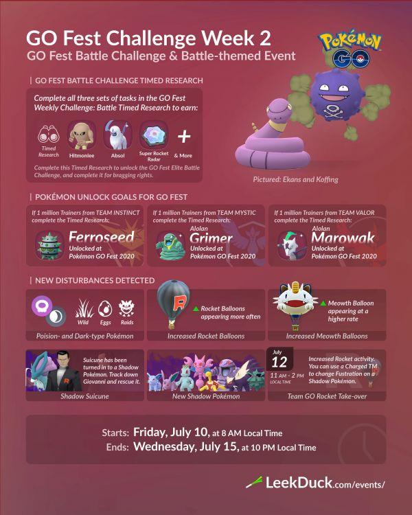 Go Fest Challenge Semana 2 Pokemon Go