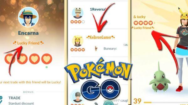Nueva funcionalidad en Pokemon Go: Amigos con Suerte