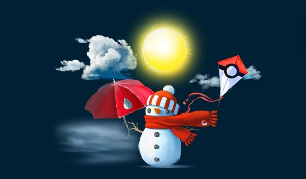 Tipos de Pokémon potenciados por el  el tiempo atmosférico