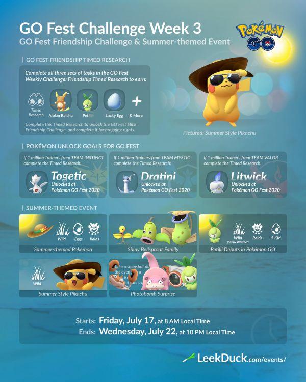 Go Fest Challenge Semana 3 Pokemon Go