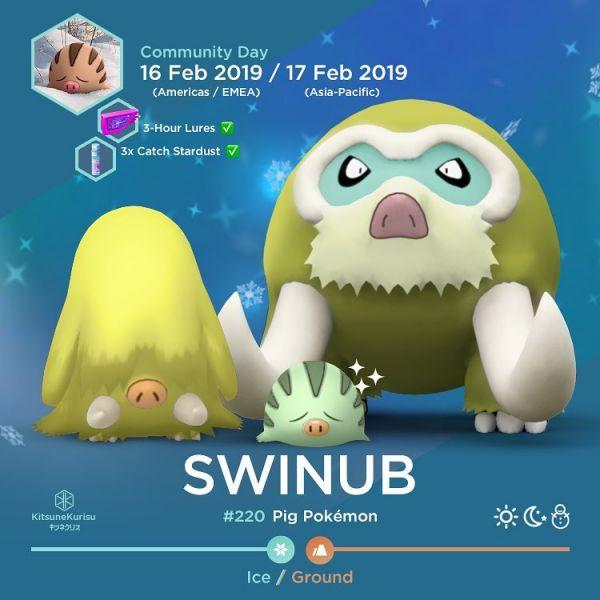 Evoluciones Pokemon Swinhub
