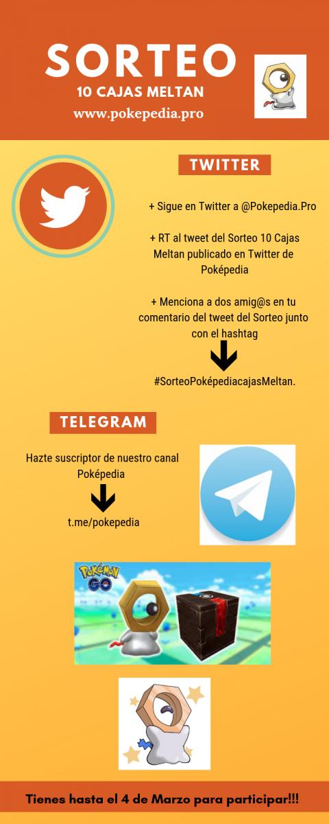 Sorteo efectuado por Poképedia de 10 Cajas Misteriosas donde sale el pokémon Meltan