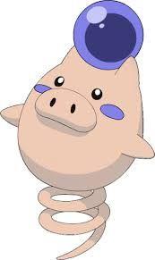 Pokémon Spoink en su versión variocolor